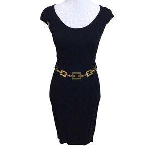 Milly Textured Knit Bodycon Midi Dress